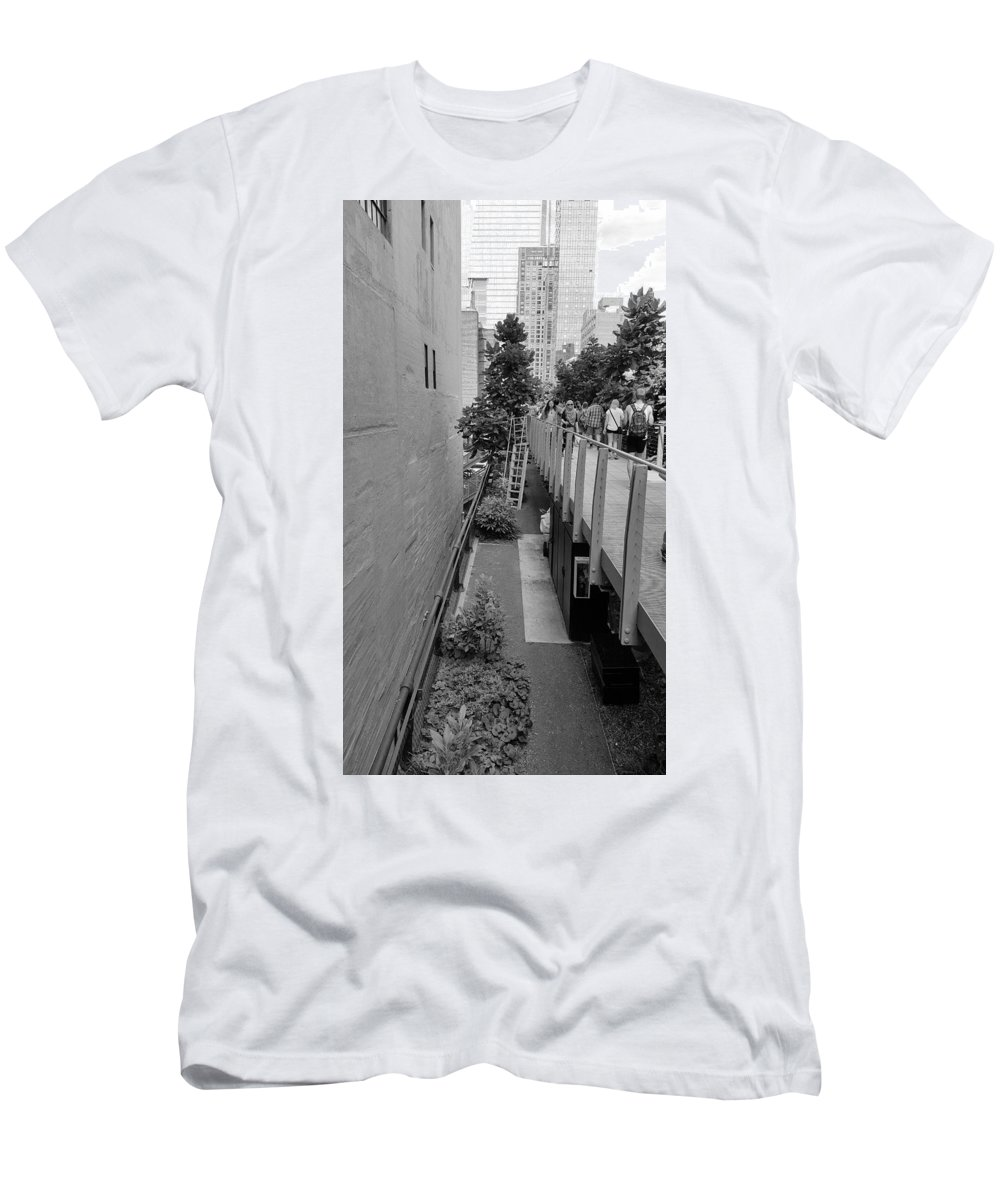 The High Line Men's T-Shirt (Athletic Fit) featuring the photograph The High Line 158 by Rob Hans