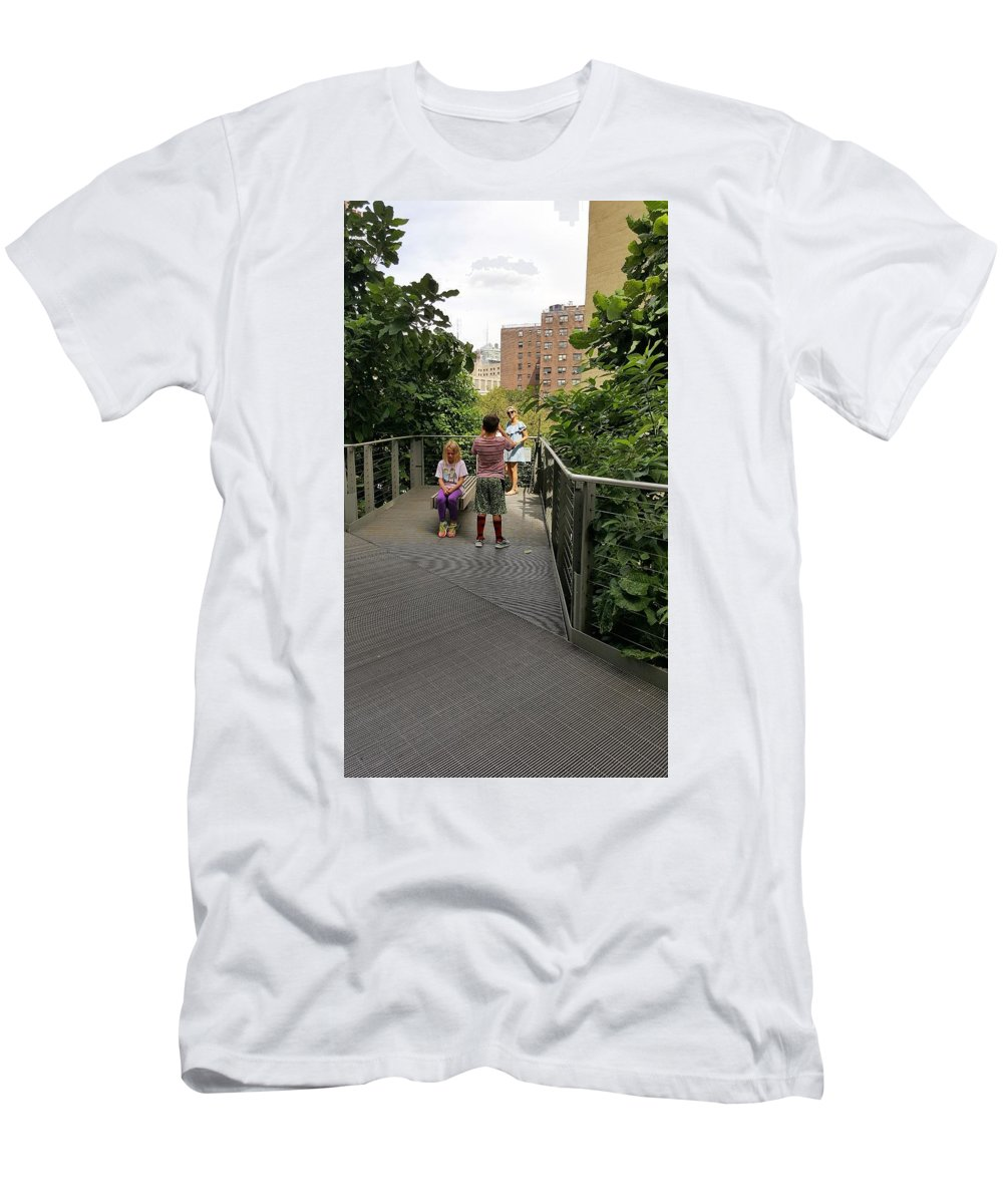 The High Line Men's T-Shirt (Athletic Fit) featuring the photograph The High Line 164 by Rob Hans