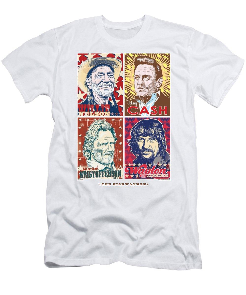 Outlaw T-Shirt featuring the digital art The Highwaymen by Jim Zahniser