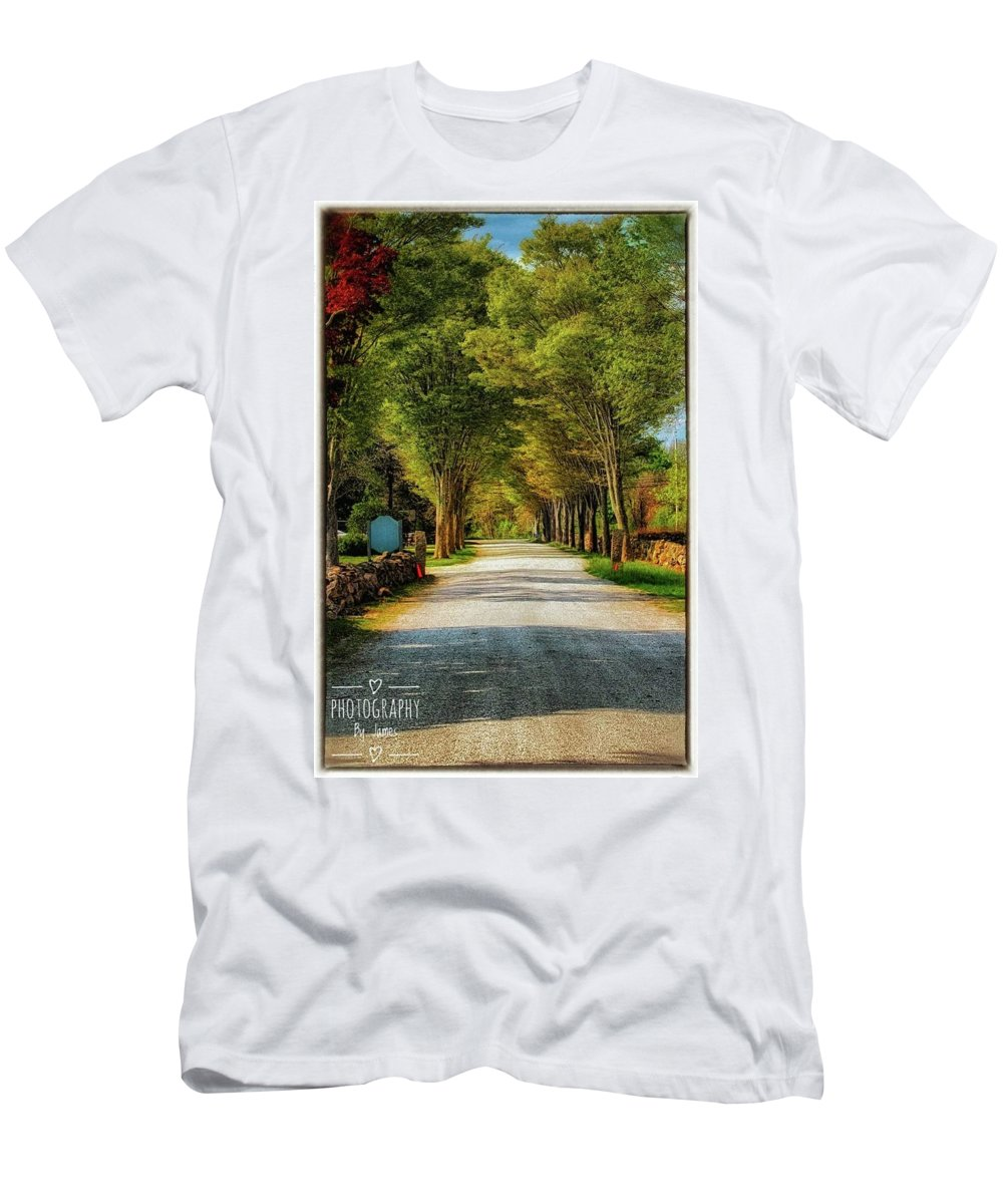 Men's T-Shirt (Athletic Fit) featuring the photograph The Lane by James Caine