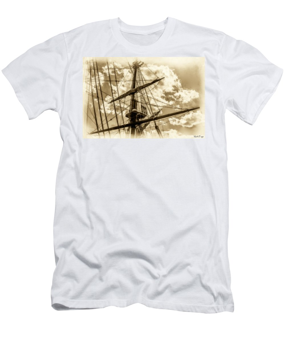 Florida Men's T-Shirt (Athletic Fit) featuring the photograph The Last Farewell - II by Mark Fuge