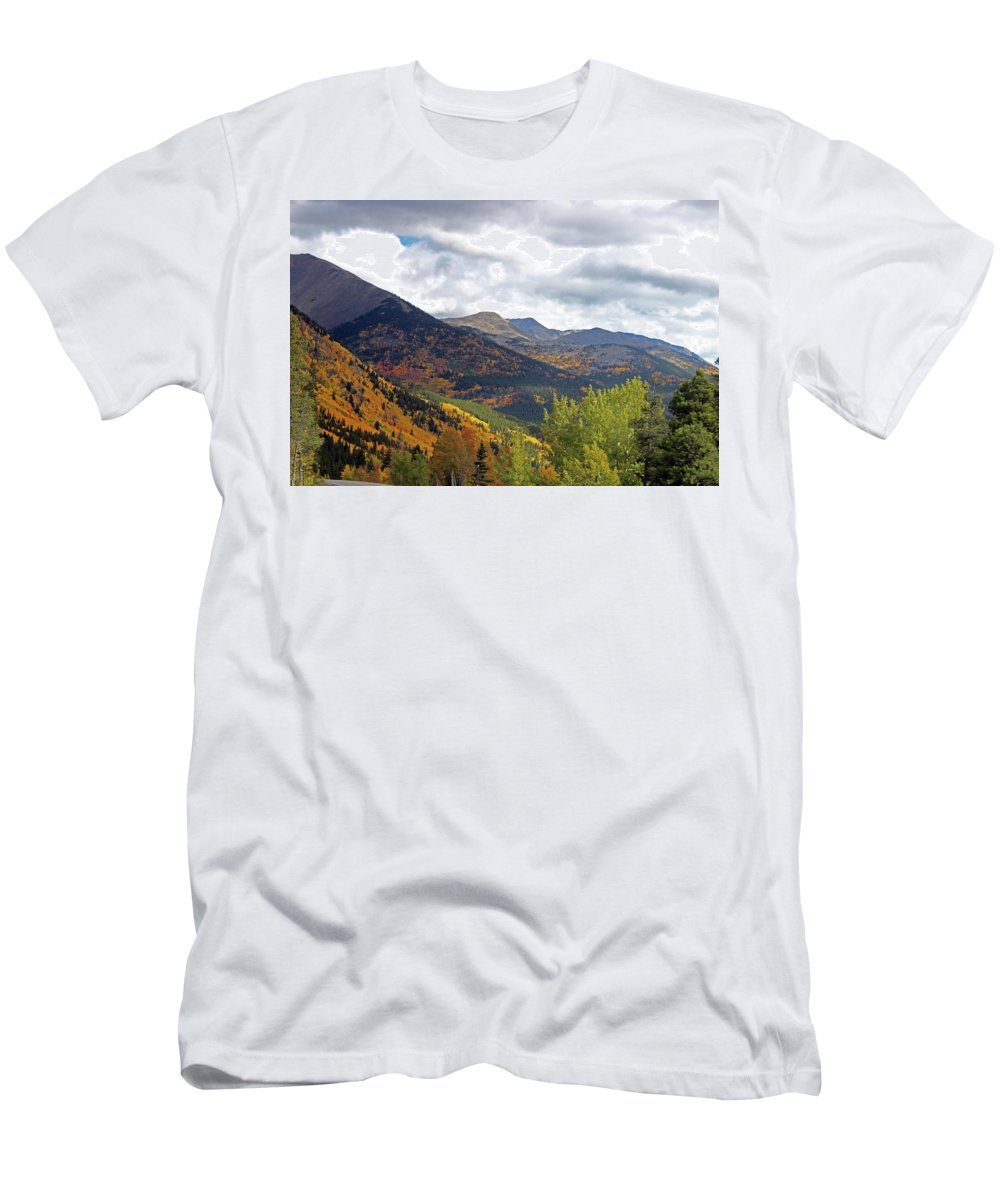 Fall Men's T-Shirt (Athletic Fit) featuring the photograph The Love Of Nature by Samantha Burrow