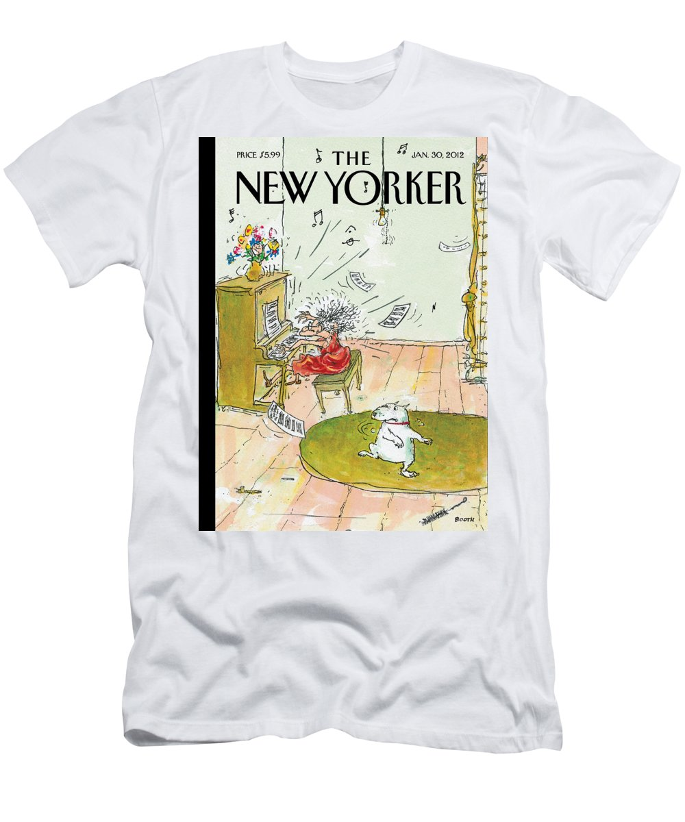 Woman T-Shirt featuring the painting Winter Blues by George Booth