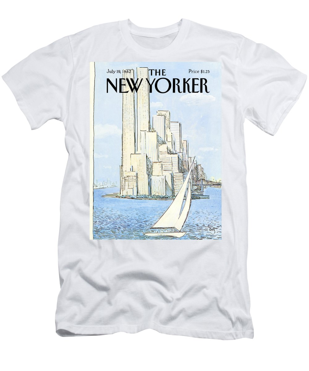 Regional T-Shirt featuring the painting New Yorker July 19th, 1982 by Arthur Getz