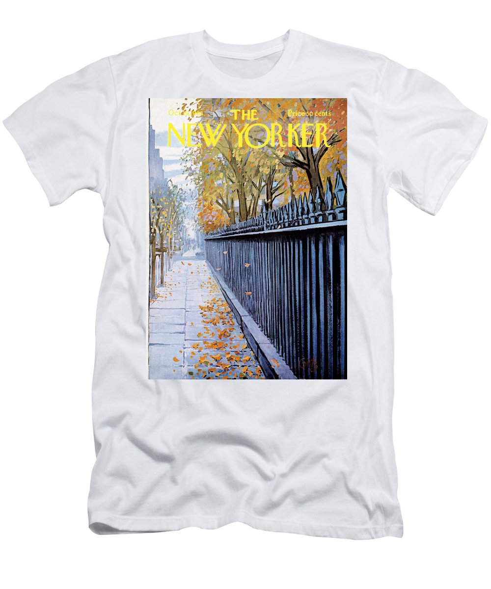 Season T-Shirt featuring the painting New Yorker October 19, 1968 by Arthur Getz