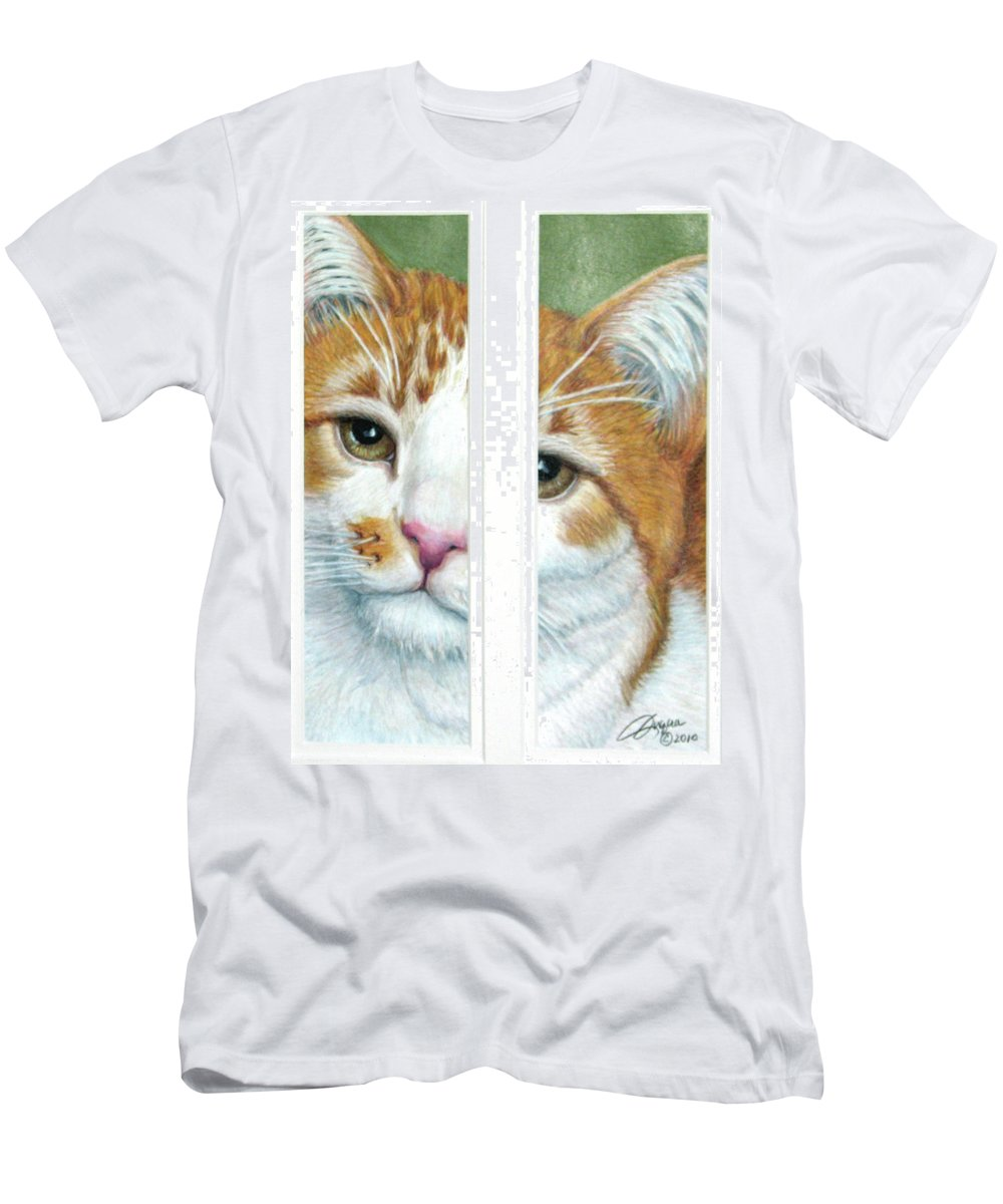 Fuqua - Artwork T-Shirt featuring the drawing The Otherside by Beverly Fuqua