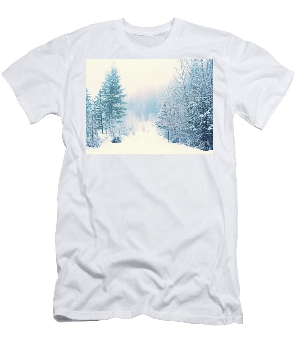 Winter Men's T-Shirt (Athletic Fit) featuring the photograph The Pale Kiss Of Winter by Tara Turner