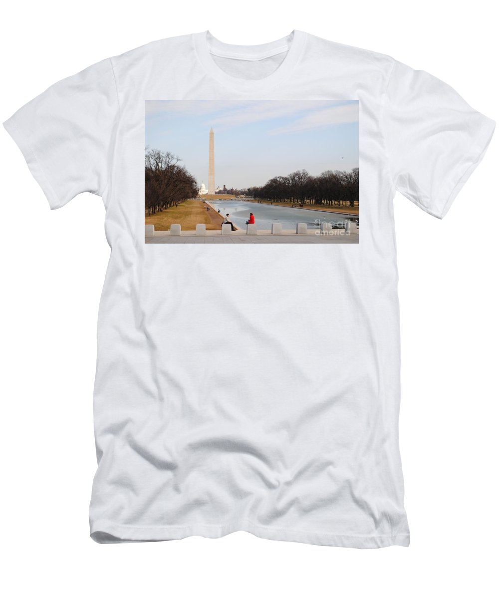 Washington Men's T-Shirt (Athletic Fit) featuring the photograph The Red Coat by Jost Houk