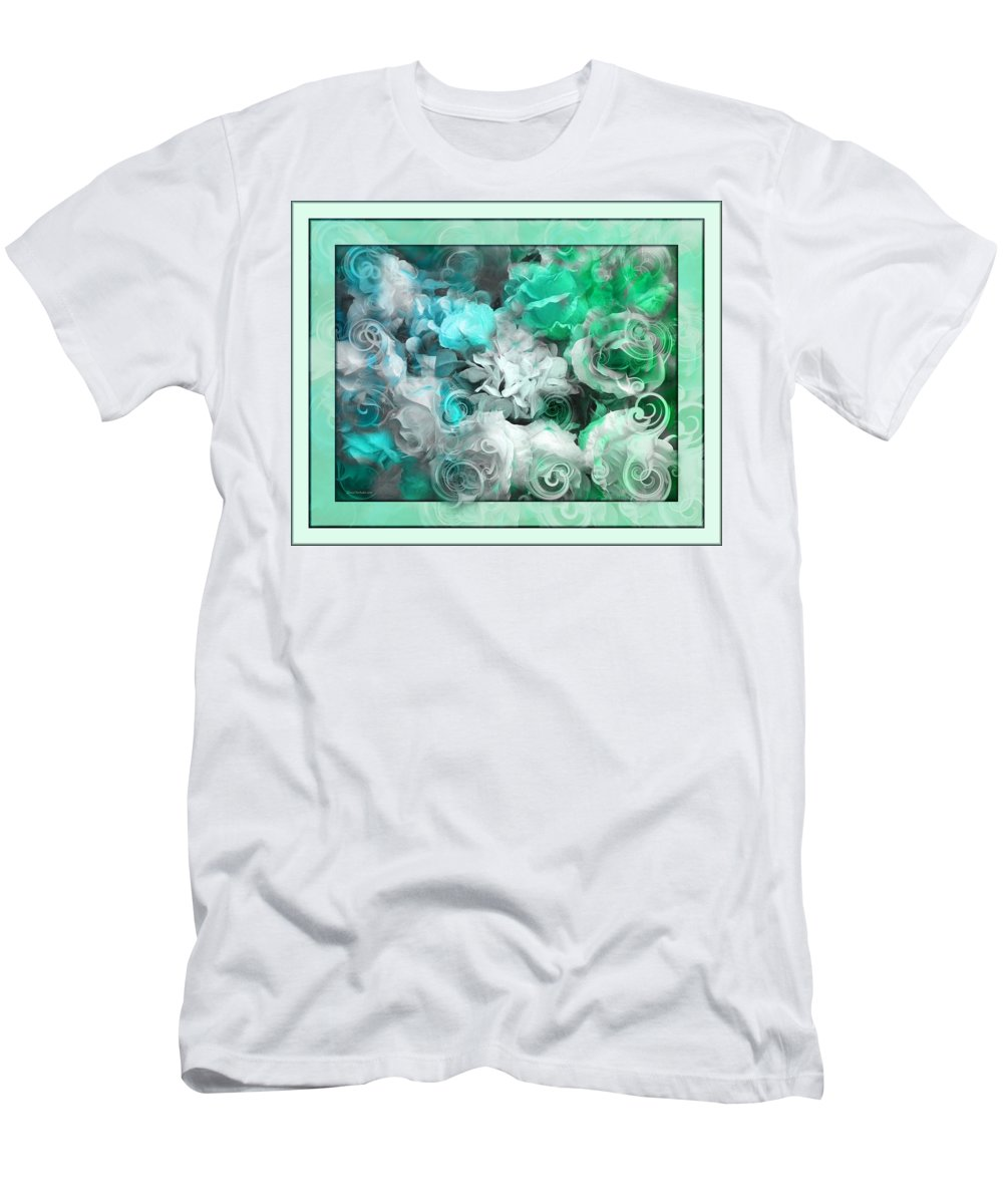The Roses Of Josephine Men's T-Shirt (Athletic Fit) featuring the photograph The Roses Of Josephine by Daniel Arrhakis