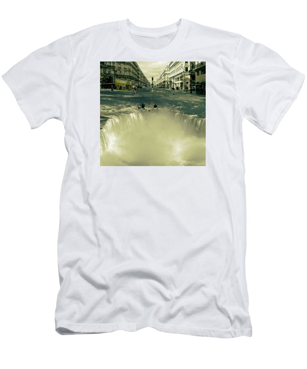 Street Men's T-Shirt (Athletic Fit) featuring the digital art The Street Fall by Marian Voicu