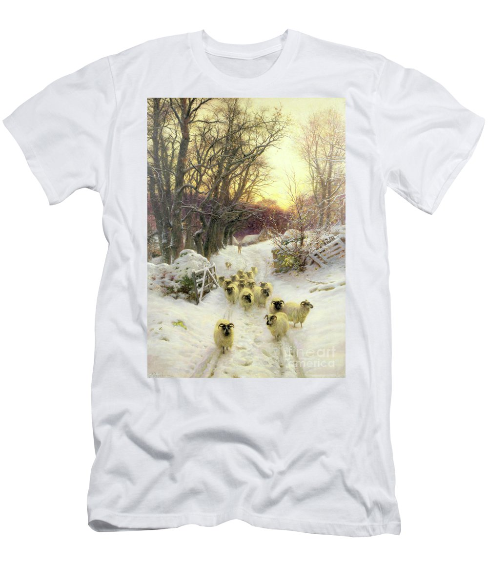 Sunset T-Shirt featuring the painting The Sun Had Closed the Winter's Day by Joseph Farquharson