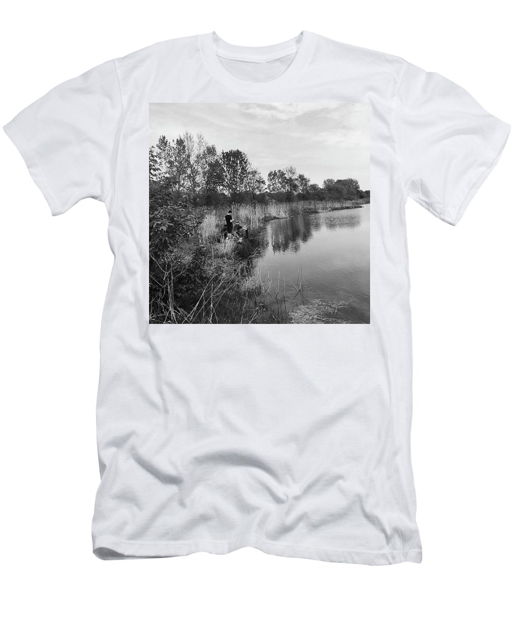 Water T-Shirt featuring the photograph Moving the Water by Frank J Casella