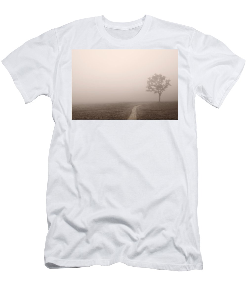 Cade Men's T-Shirt (Athletic Fit) featuring the photograph The Trail by Steve Gadomski