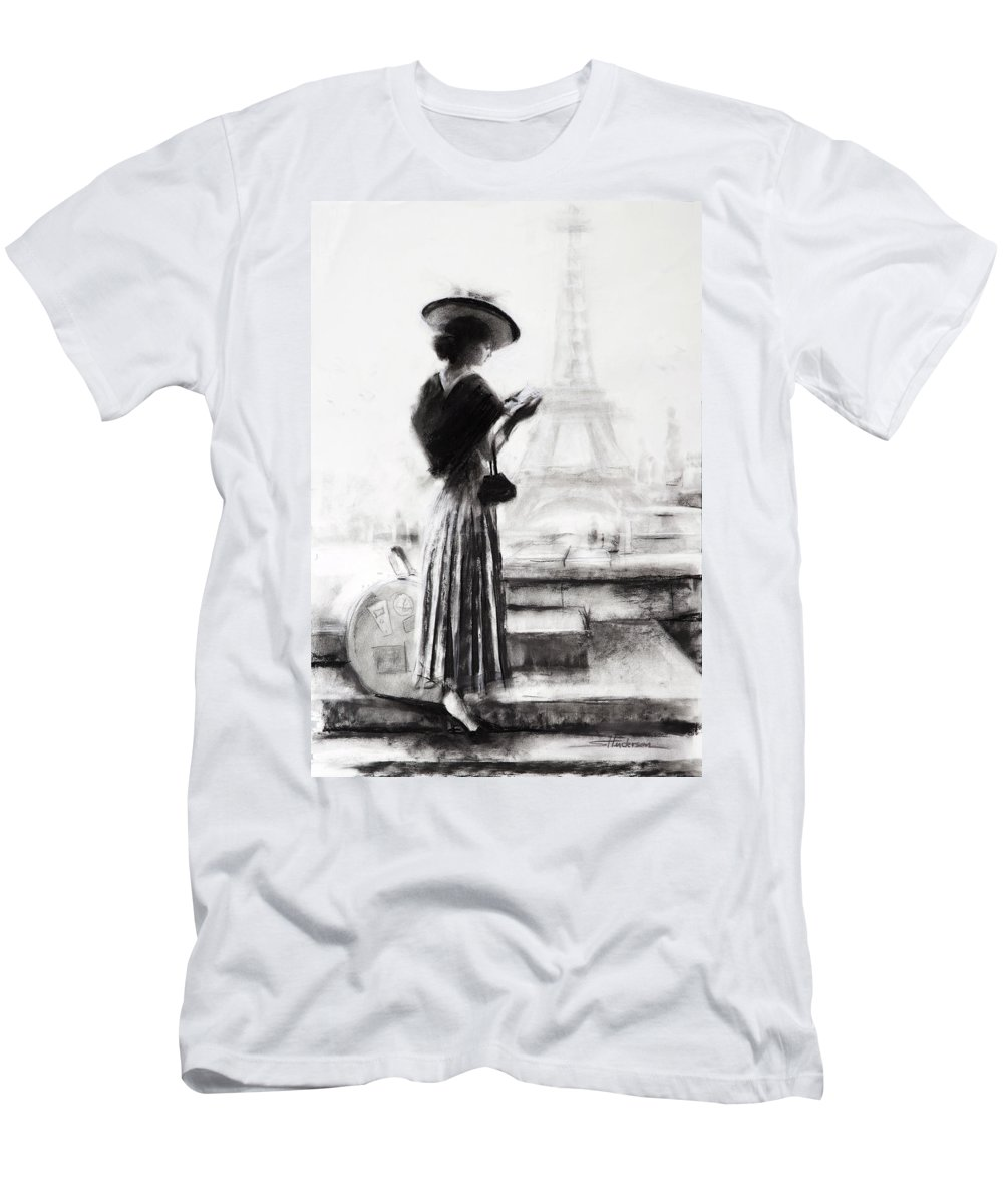 Woman Men's T-Shirt (Athletic Fit) featuring the painting The Traveler by Steve Henderson