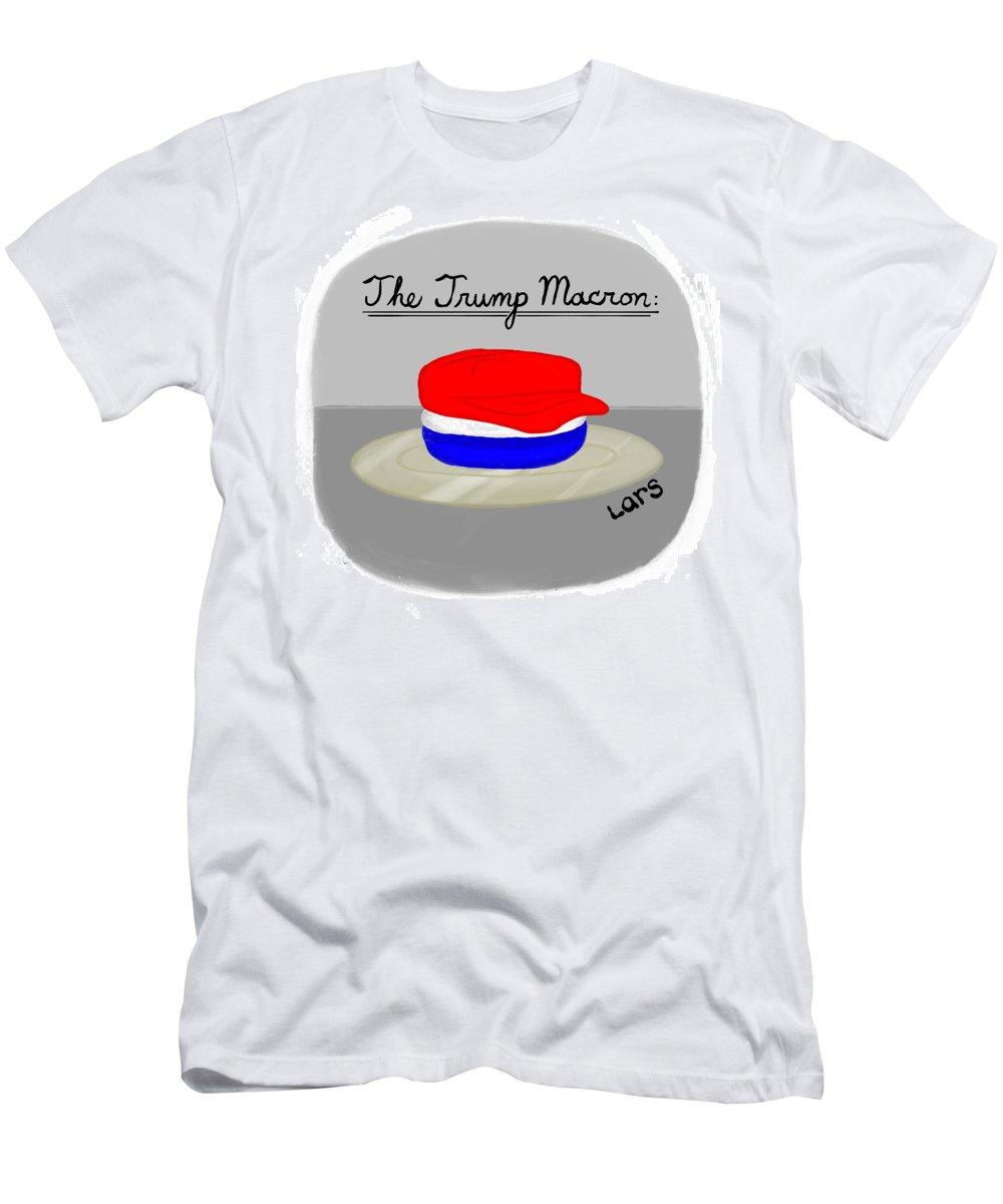 The Trump Macron Men's T-Shirt (Athletic Fit) featuring the painting The Trump Macron by Lars Kenseth