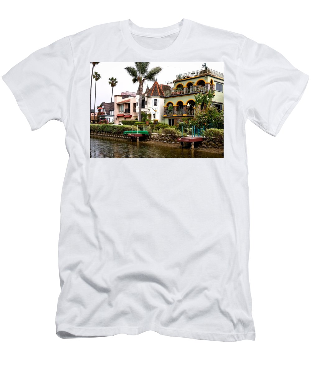 Venice Men's T-Shirt (Athletic Fit) featuring the photograph The Venice Canal Historic District by Mountain Dreams