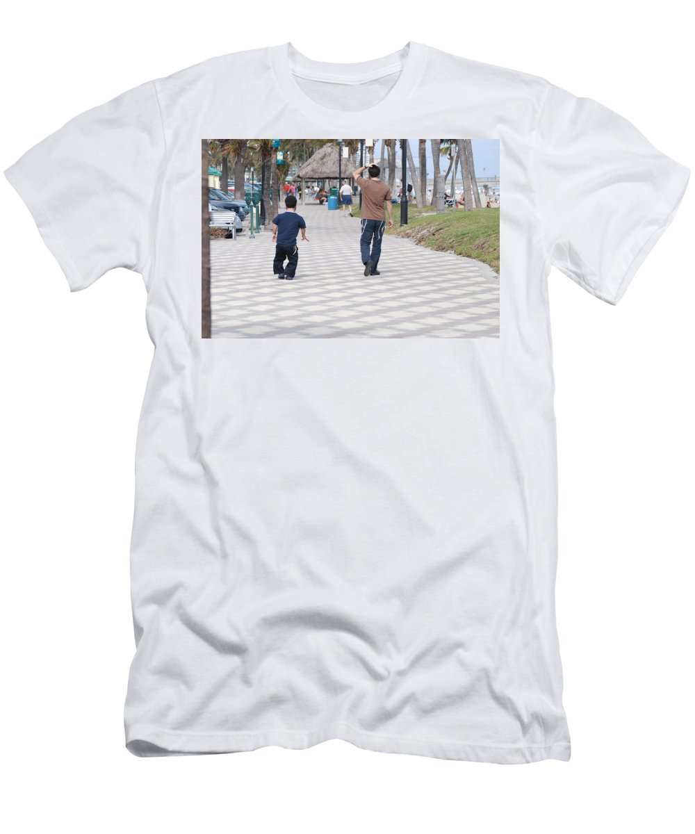 Man Men's T-Shirt (Athletic Fit) featuring the photograph The Walk by Rob Hans