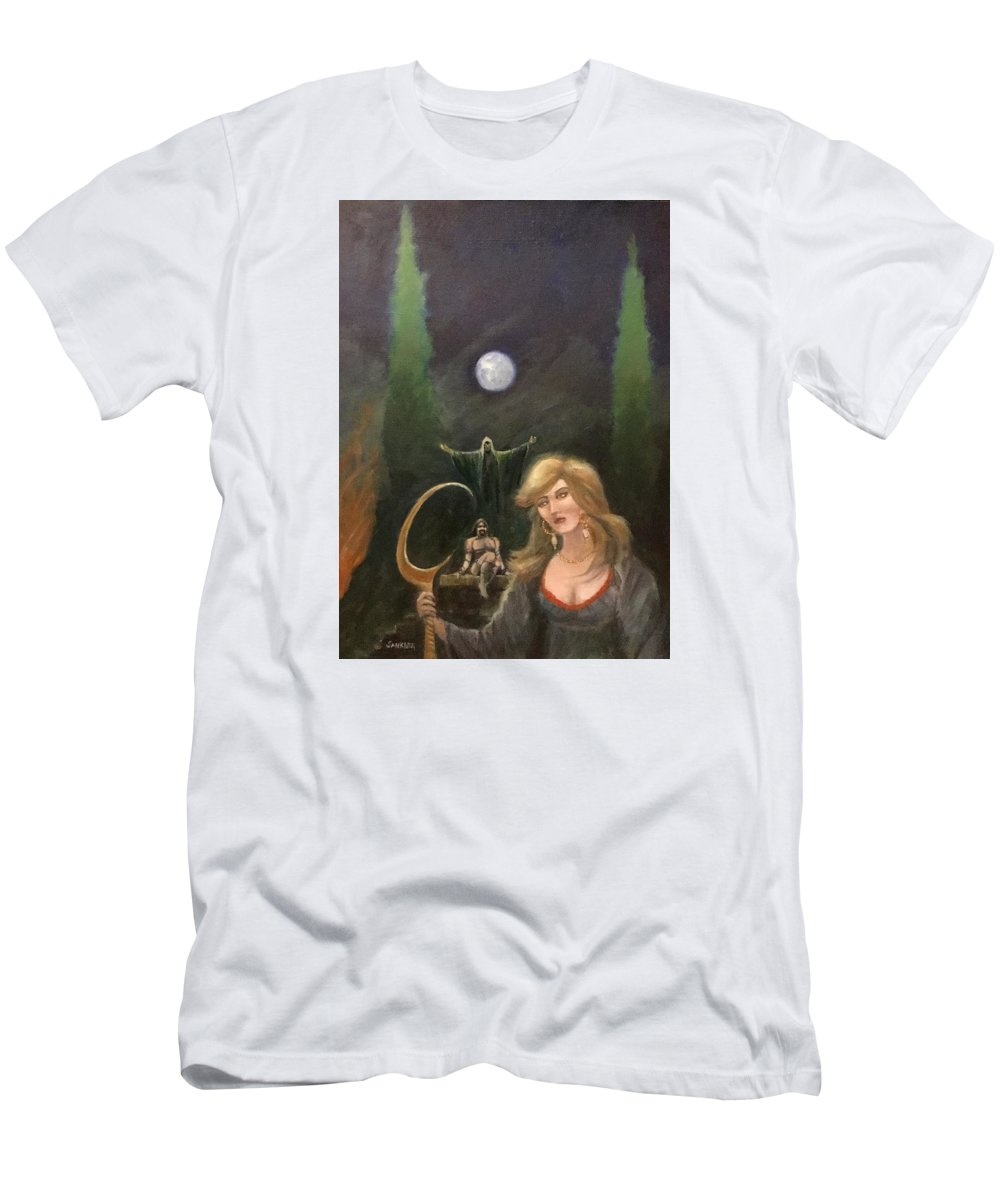 Fantasy Men's T-Shirt (Athletic Fit) featuring the painting The Wedding Ceremony by Robert Sankner