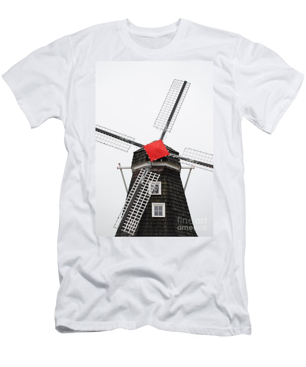 Dutch Men's T-Shirt (Athletic Fit) featuring the photograph The Windmill by Jost Houk