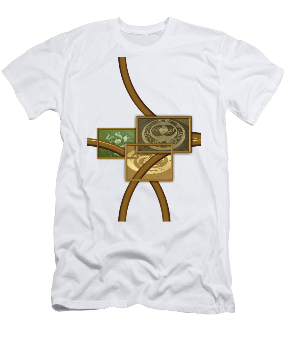 Fantasy T-Shirt featuring the digital art The World Of Crop Circles By Pierre Blanchard by Esoterica Art Agency