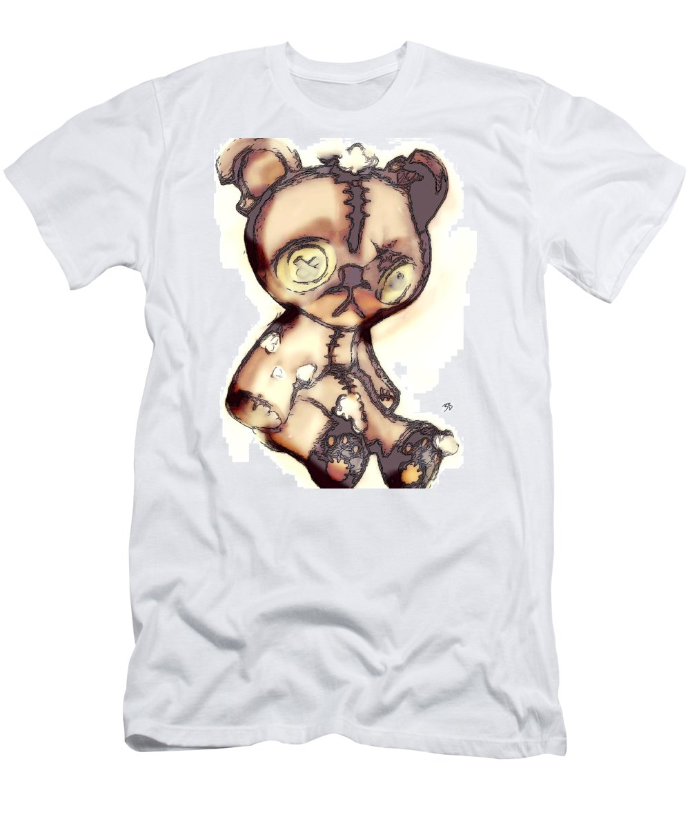 Men's T-Shirt (Athletic Fit) featuring the drawing Theodore. by Brittni Bailie