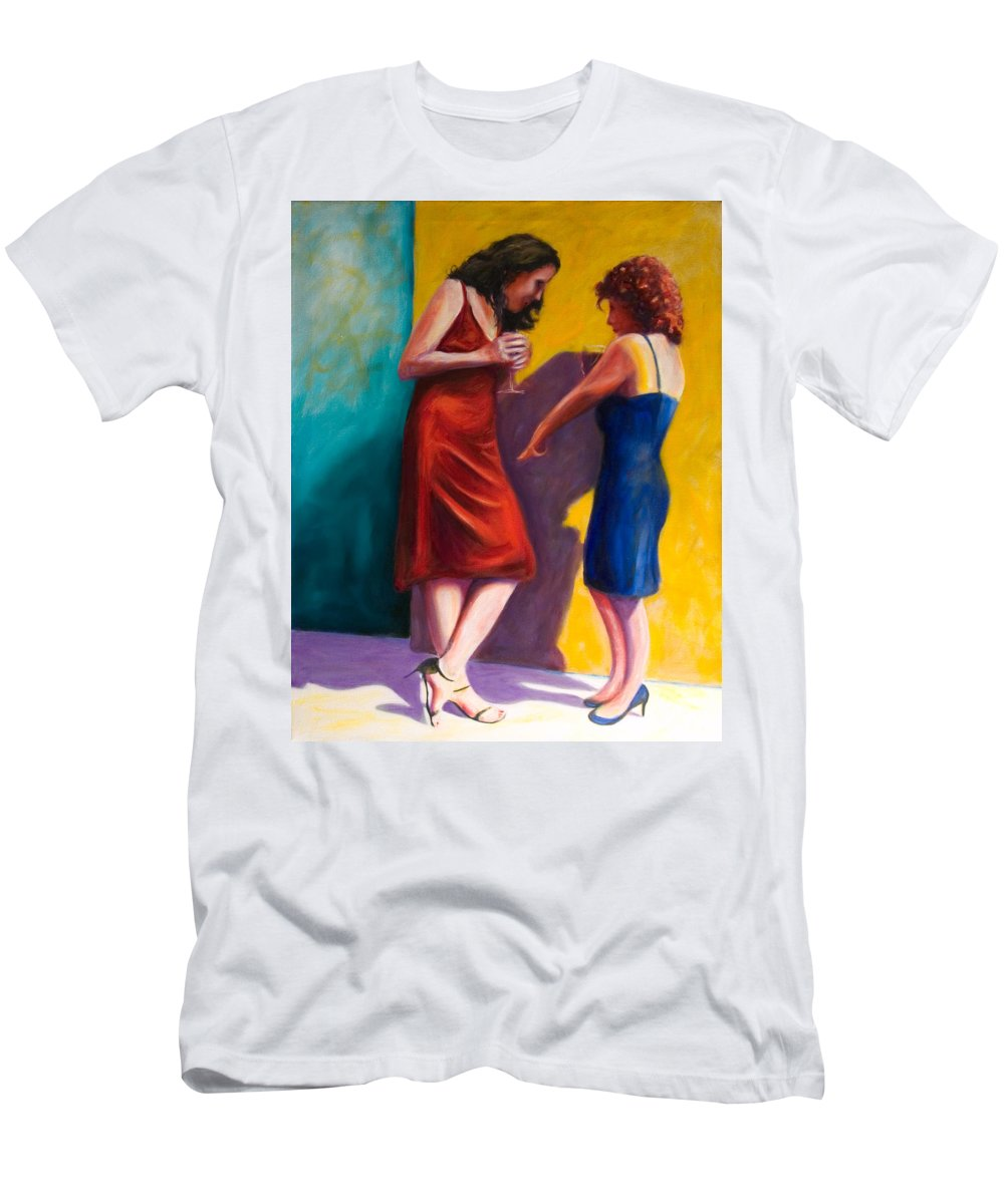 Figurative Men's T-Shirt (Slim Fit) featuring the painting There by Shannon Grissom