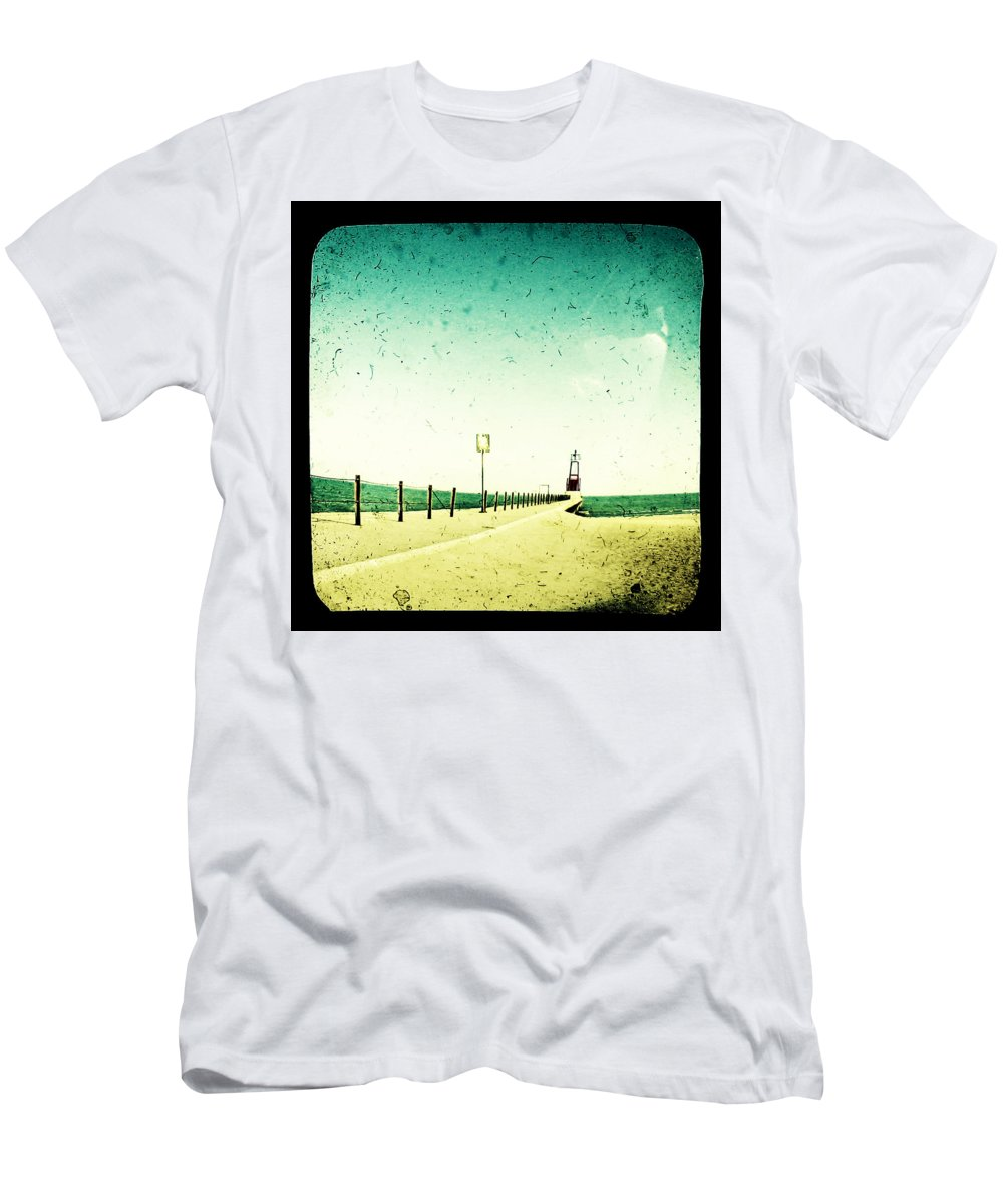 Beach Men's T-Shirt (Athletic Fit) featuring the photograph These Days Are Gone by Dana DiPasquale