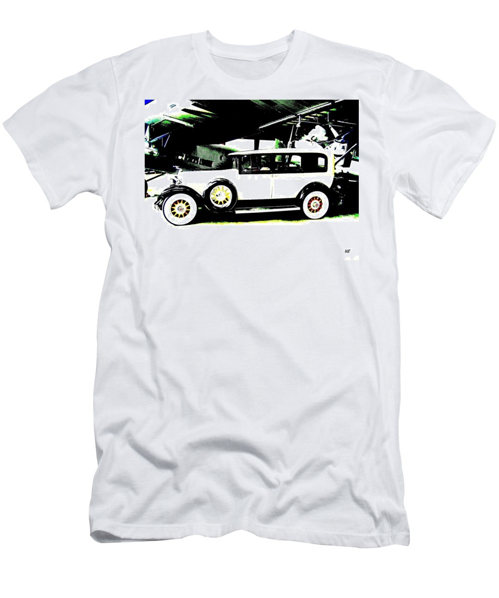 Packard Men's T-Shirt (Athletic Fit) featuring the digital art Thirties Packard Limo by Will Borden