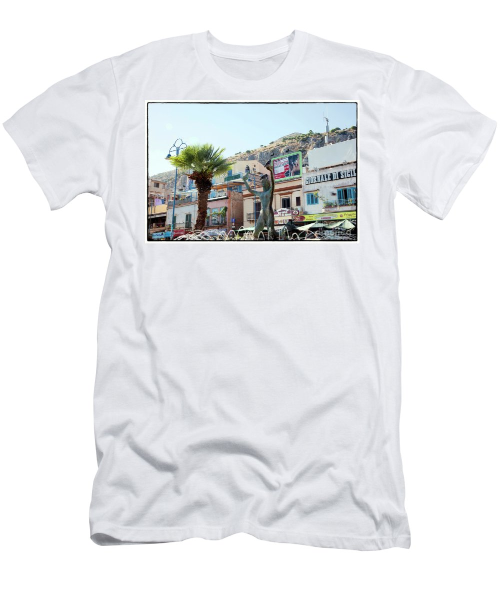 Statue Men's T-Shirt (Athletic Fit) featuring the photograph Three Birds by Madeline Ellis