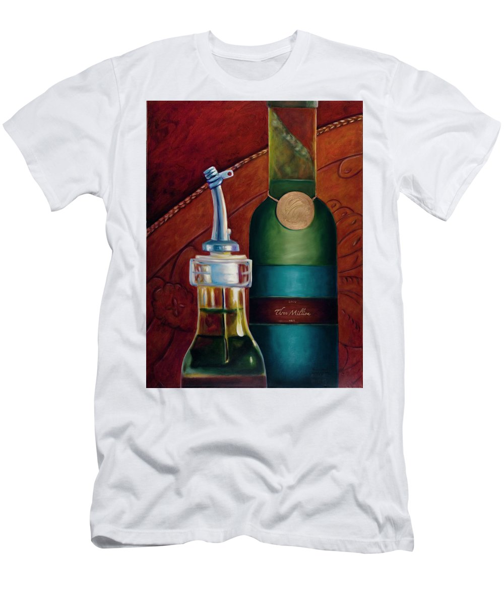 Olive Oil Men's T-Shirt (Athletic Fit) featuring the painting Three Million Net by Shannon Grissom