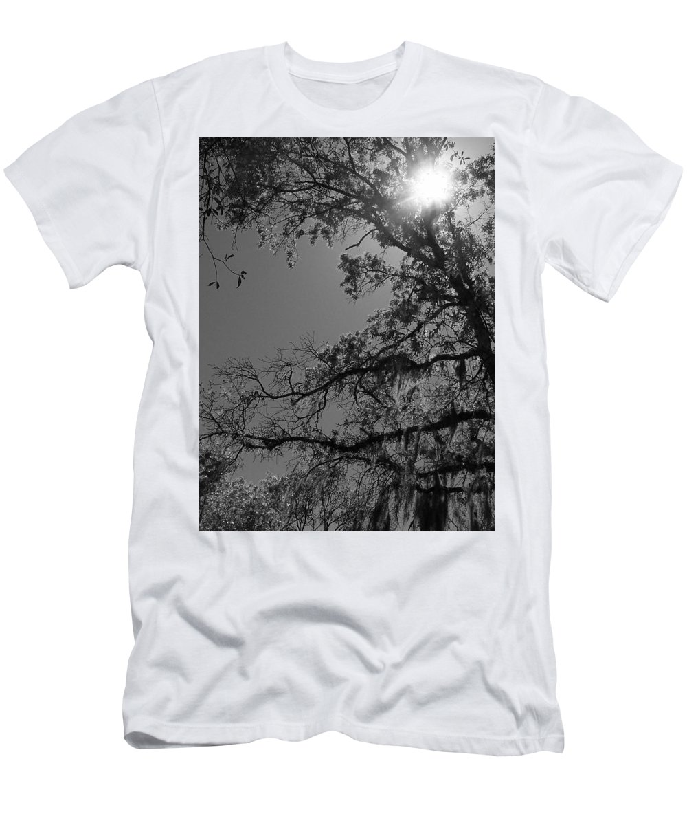Tree Men's T-Shirt (Athletic Fit) featuring the photograph Through The Trees by Sparrow TwoTheKnee