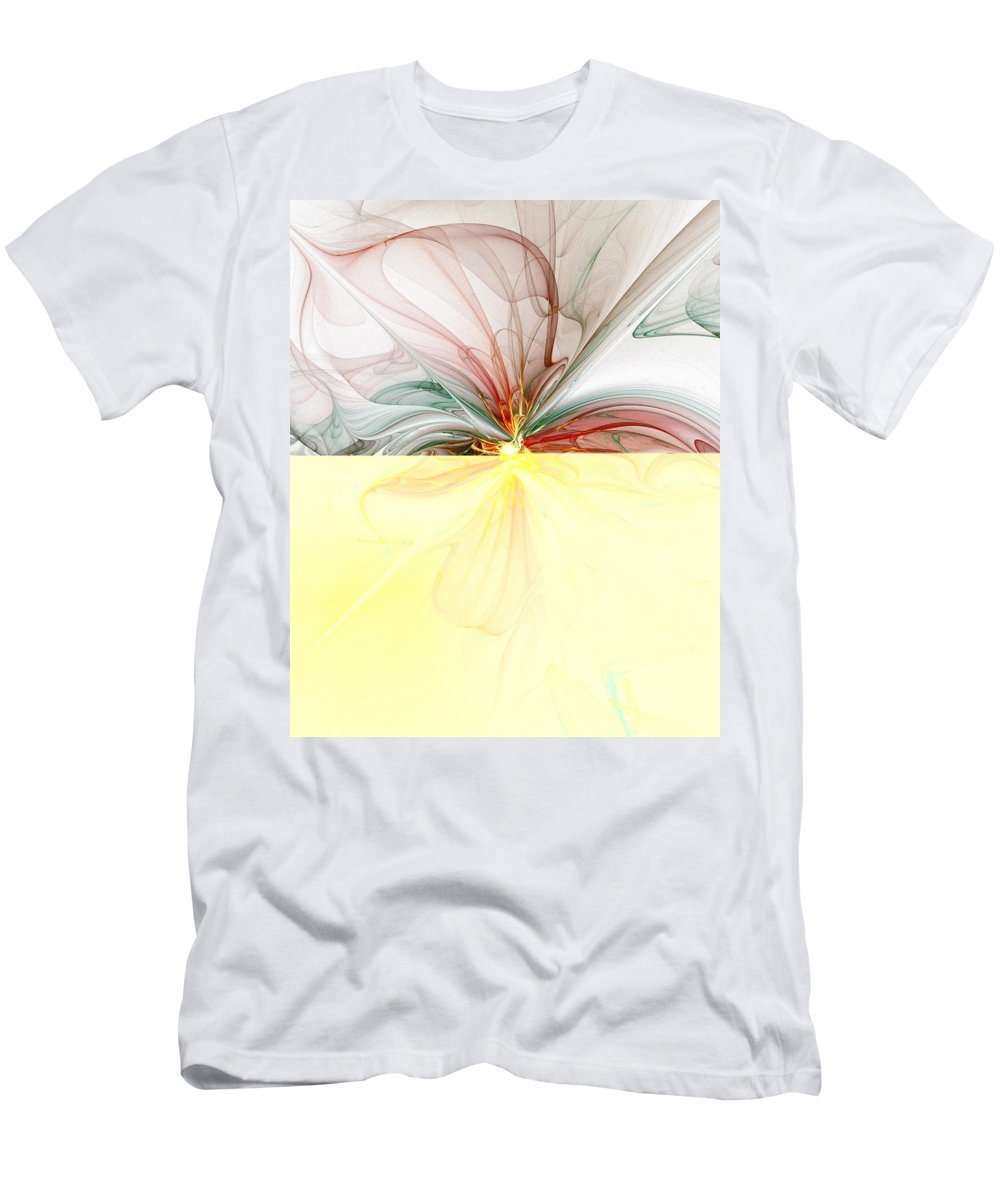 Digital Art Men's T-Shirt (Athletic Fit) featuring the digital art Tiger Lily by Amanda Moore