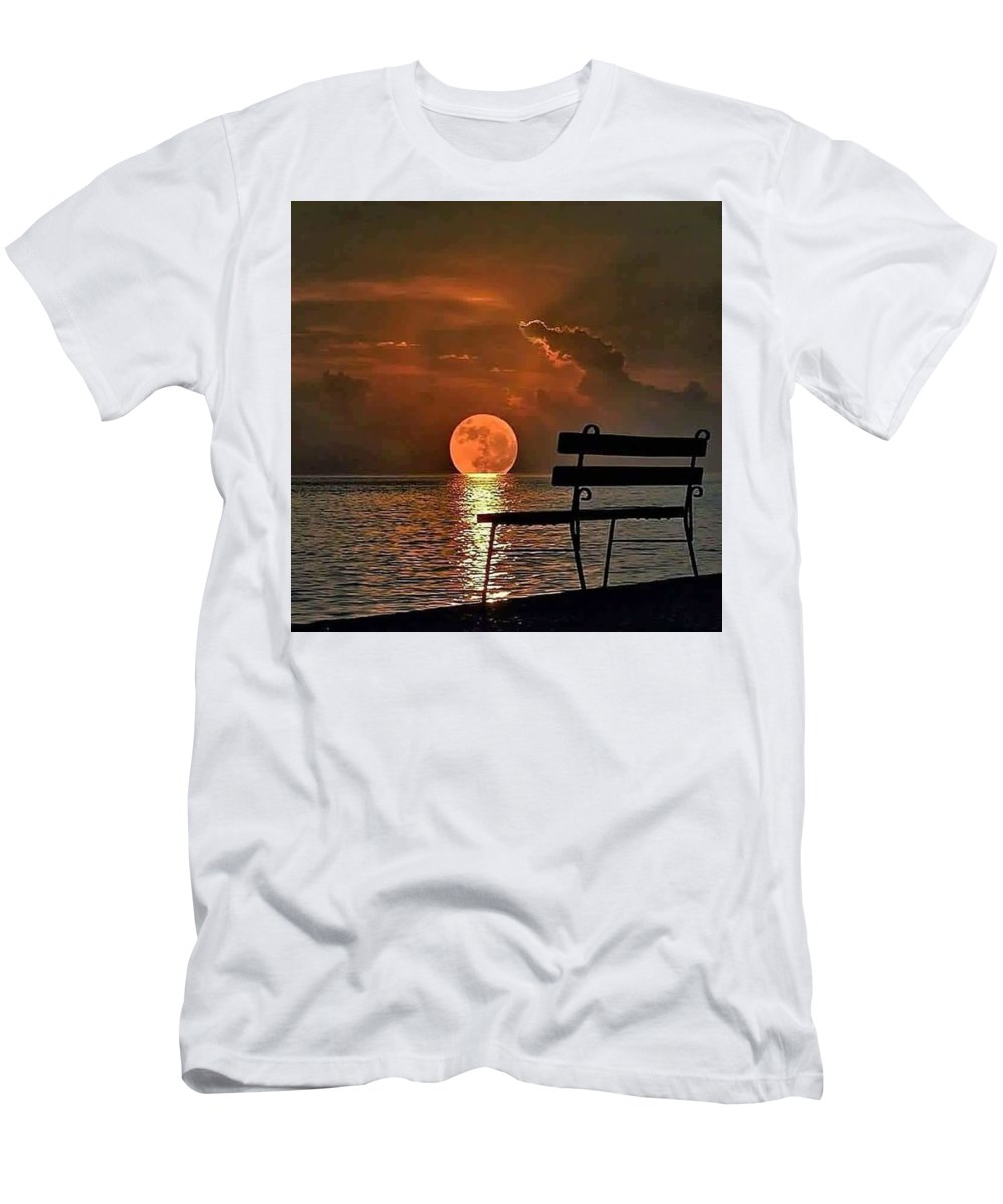 Sarah Men's T-Shirt (Athletic Fit) featuring the mixed media Time For Reflection by Gerhard Jacobs