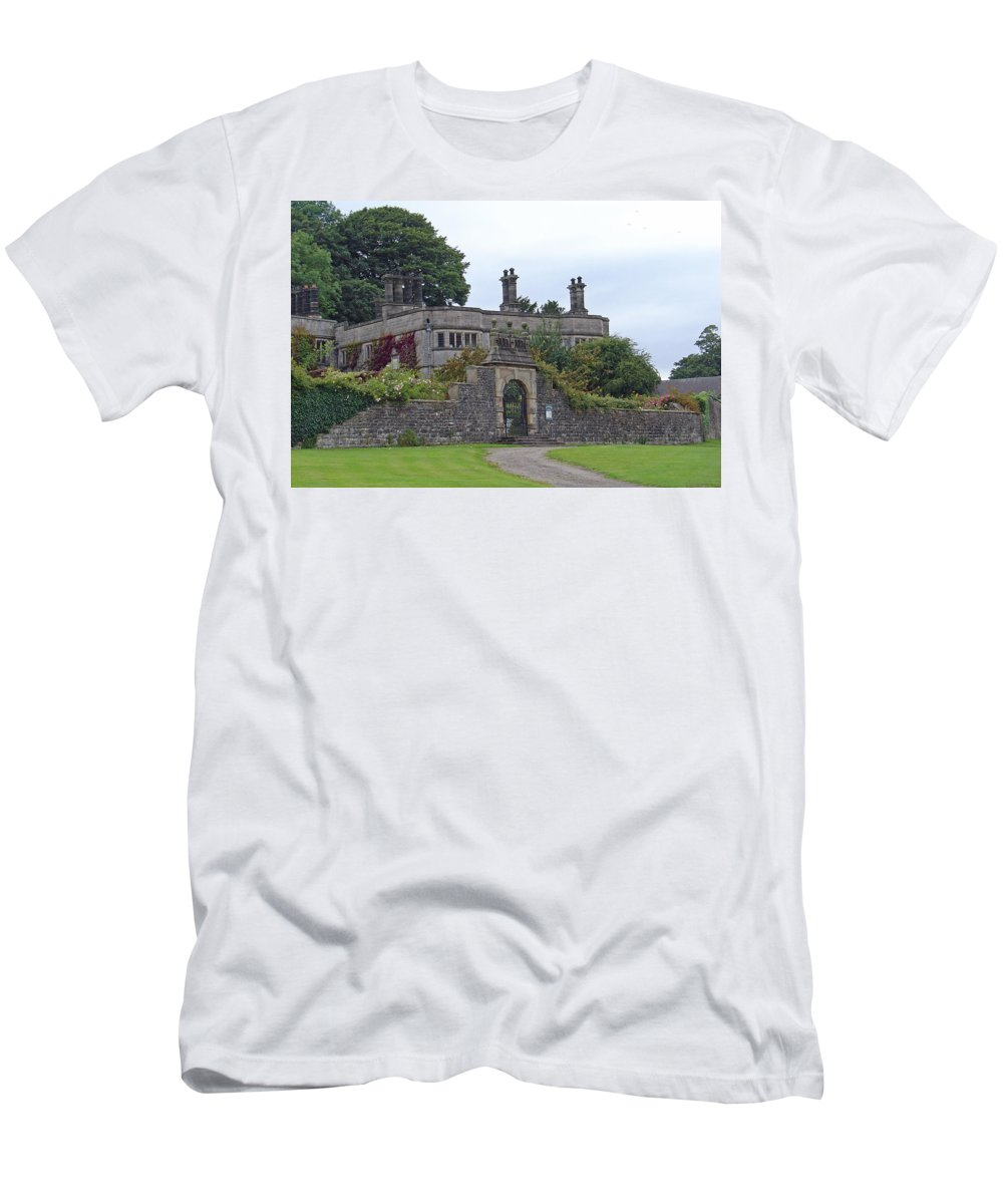 Europe Men's T-Shirt (Athletic Fit) featuring the photograph Tissington Hall by Rod Johnson