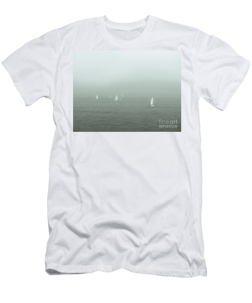Blue Men's T-Shirt (Athletic Fit) featuring the photograph To Come Upon The Solstice And Have No Fear by Dana DiPasquale
