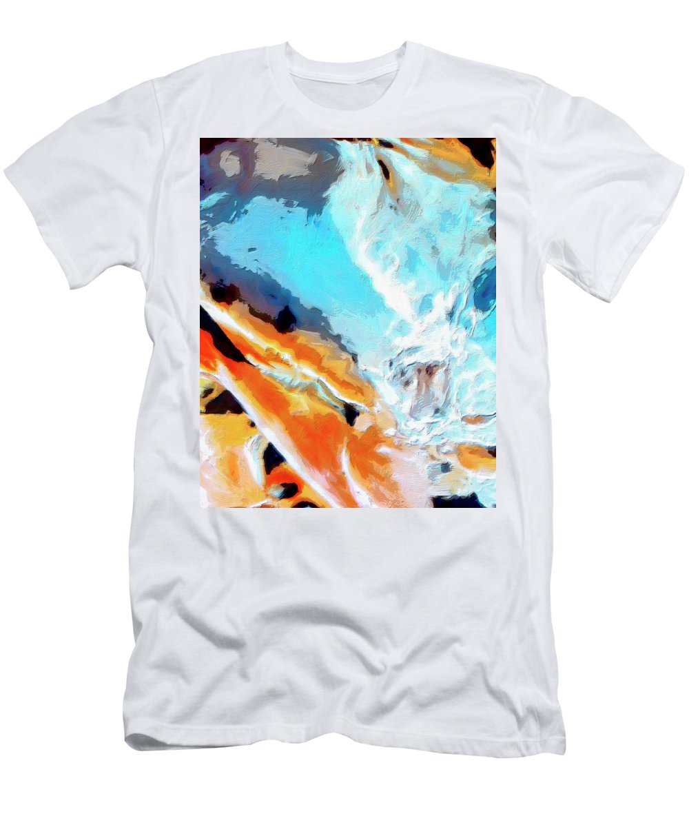 Abstract Men's T-Shirt (Athletic Fit) featuring the painting Todo Santos by Dominic Piperata