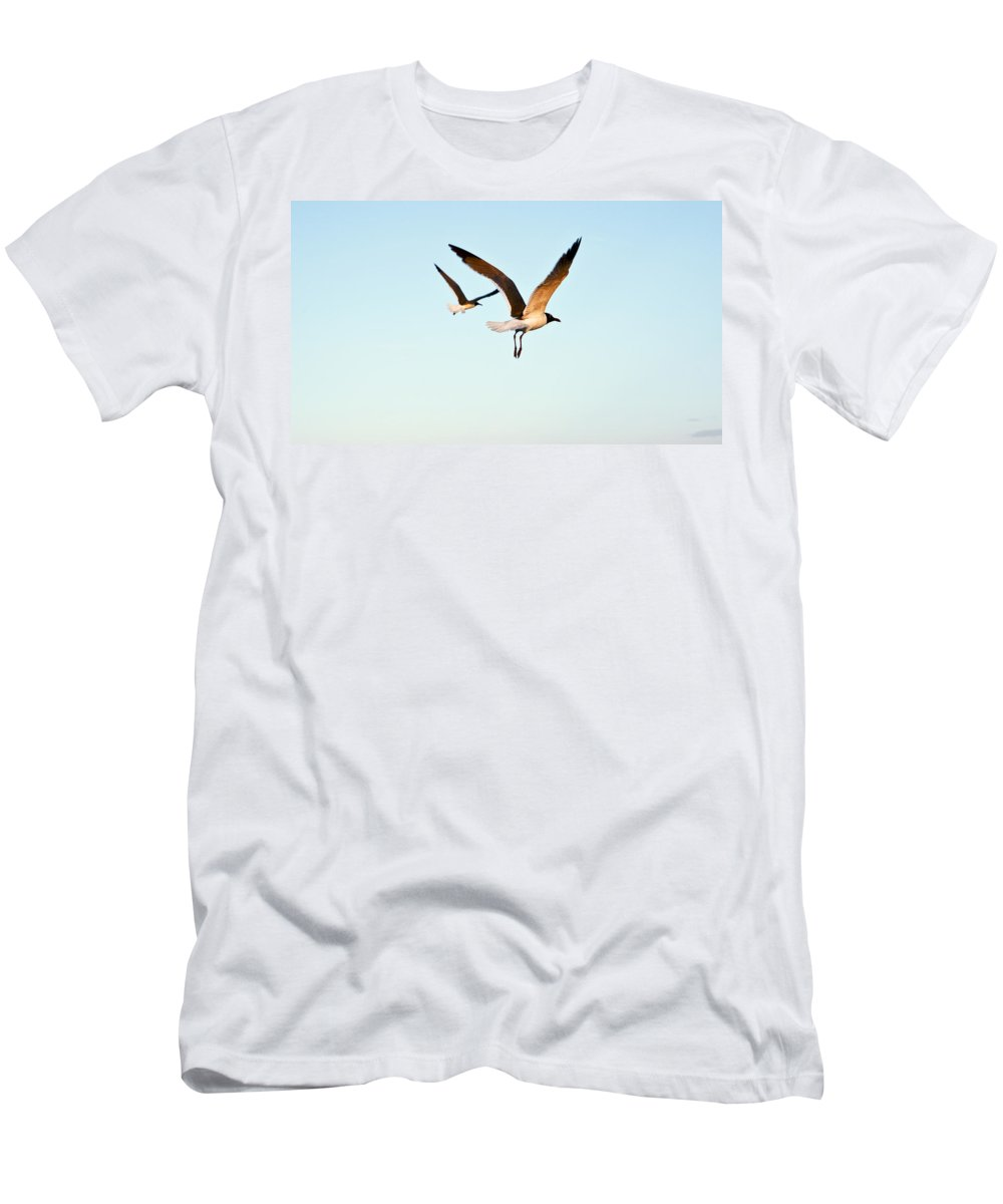 Two Men's T-Shirt (Athletic Fit) featuring the photograph Together by Marilyn Hunt