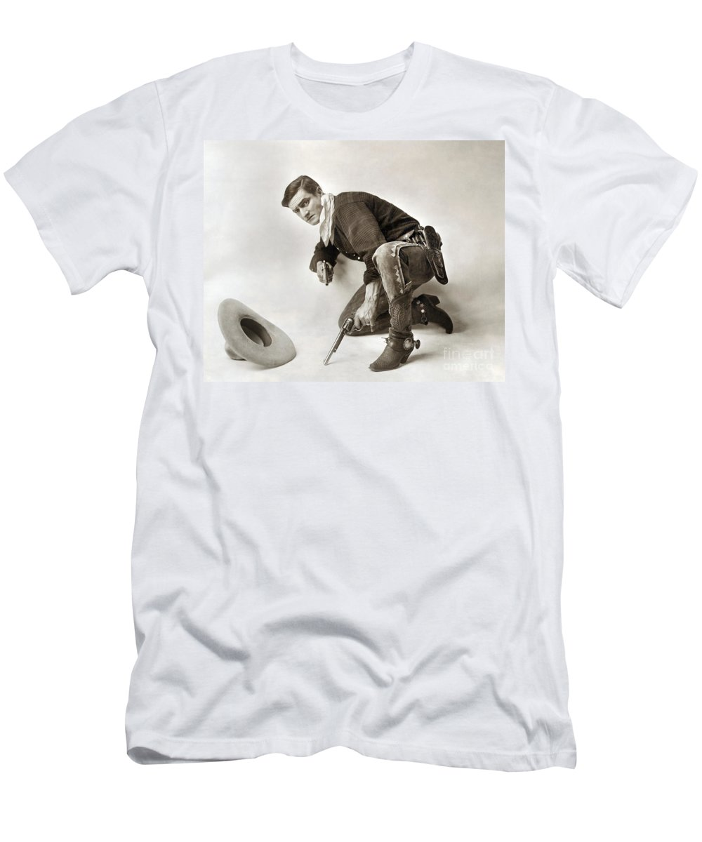 1919 Men's T-Shirt (Athletic Fit) featuring the photograph Tom Mix (1880-1944) by Granger