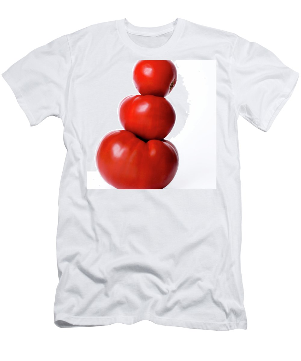 Composition Men's T-Shirt (Athletic Fit) featuring the photograph Tomatoes by Bernard Jaubert