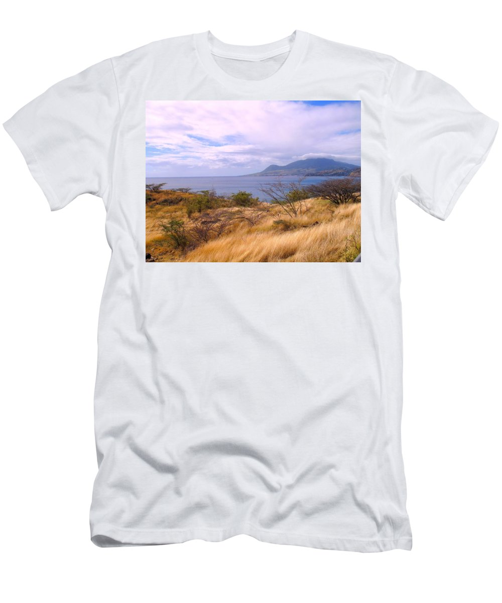 St Kitts Men's T-Shirt (Athletic Fit) featuring the photograph Towards Basseterre by Ian MacDonald