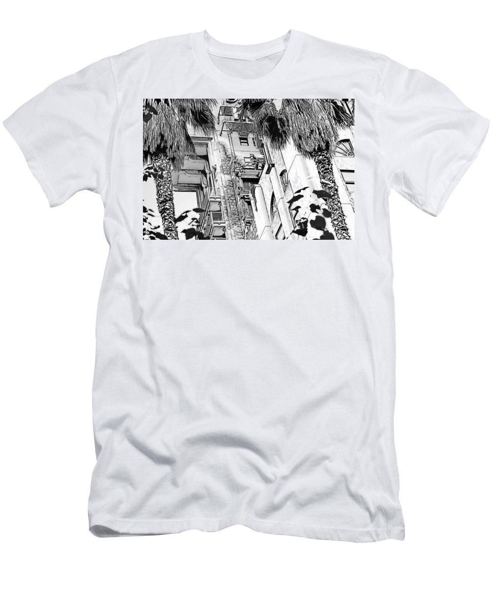 Disneyland Men's T-Shirt (Athletic Fit) featuring the digital art Tower Of Terror 2 by Michael Bergman