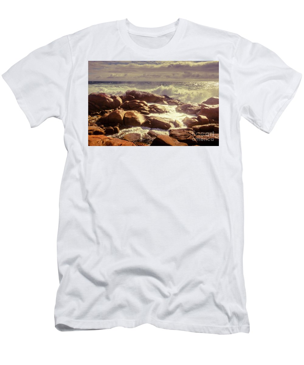 Tranquil T-Shirt featuring the photograph Tranquil Ocean Views by Jorgo Photography - Wall Art Gallery