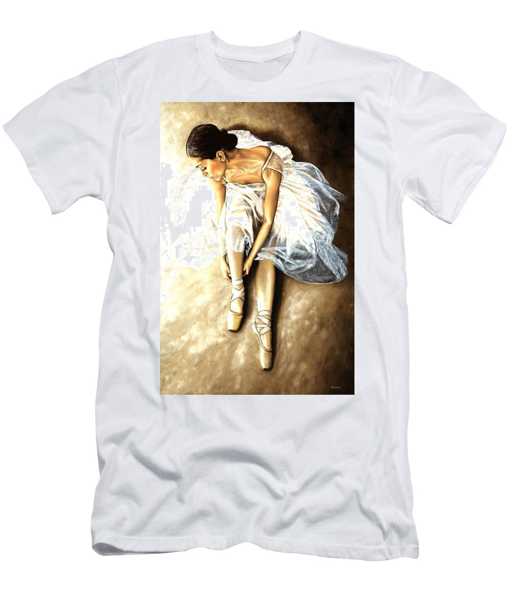 Ballet Men's T-Shirt (Athletic Fit) featuring the painting Tranquil Preparation by Richard Young