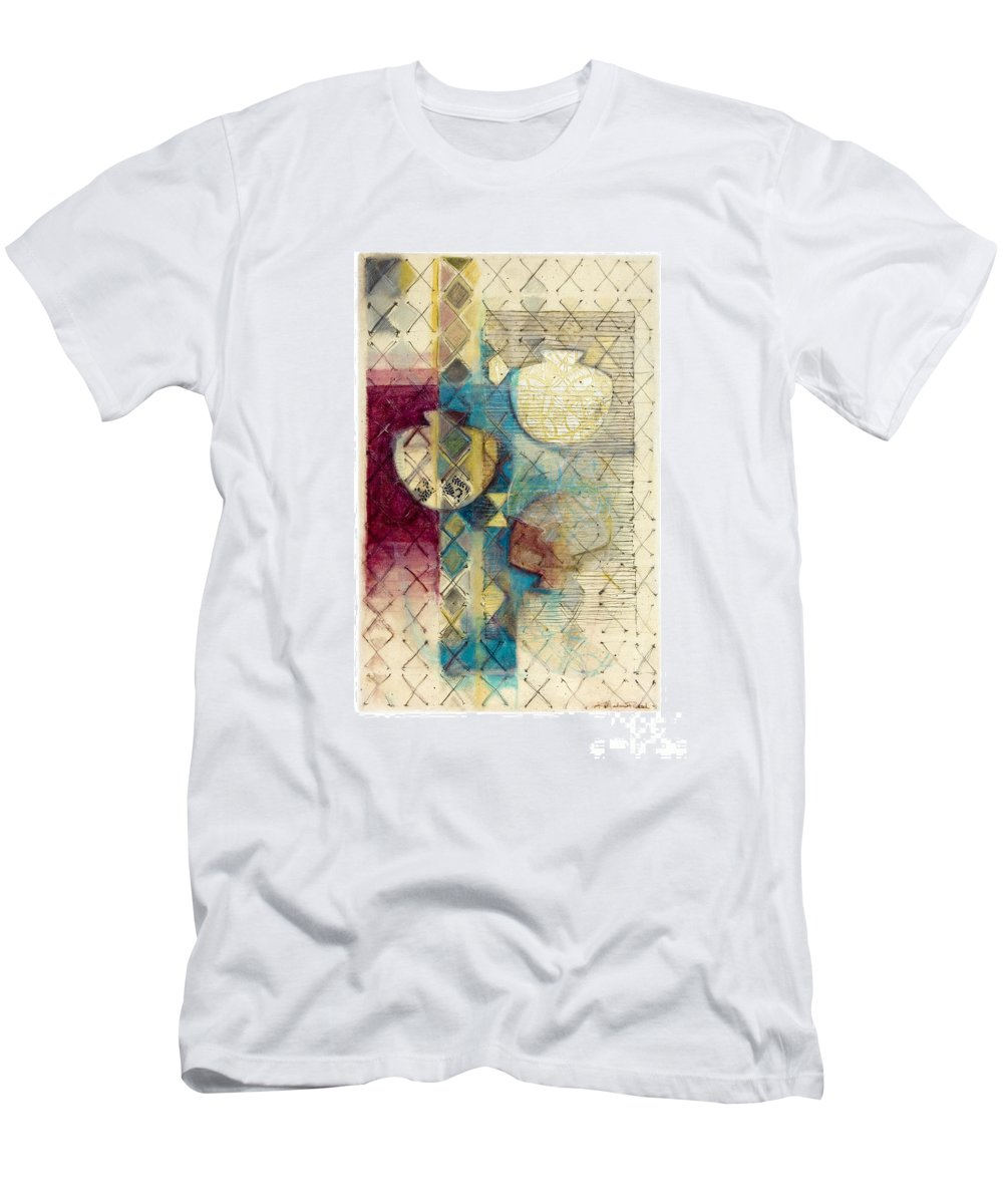 Mixed-media Men's T-Shirt (Athletic Fit) featuring the painting Trans Xs No 1 by Kerryn Madsen- Pietsch