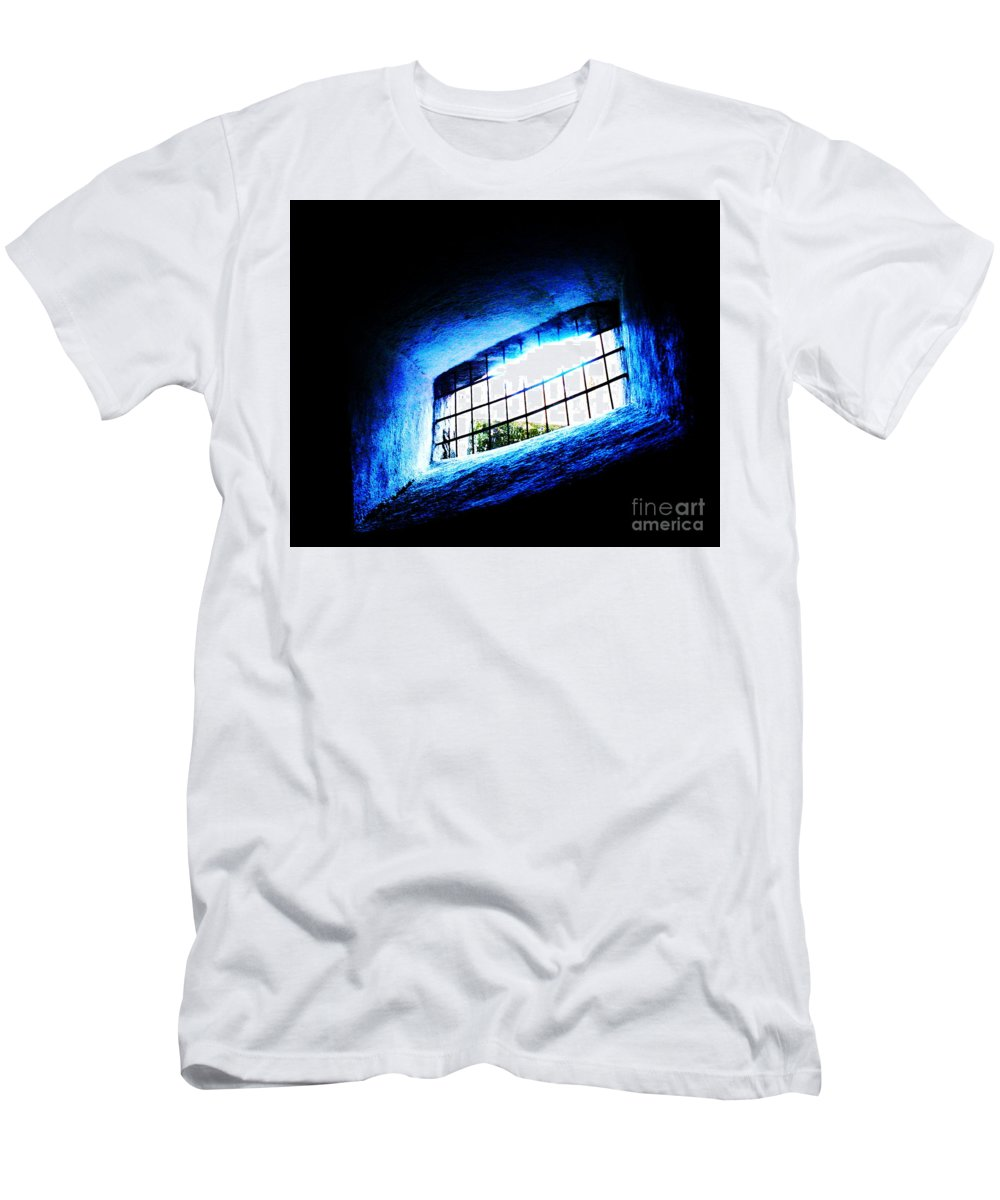 Abstract Image Men's T-Shirt (Athletic Fit) featuring the photograph Trapped by Onie Dimaano