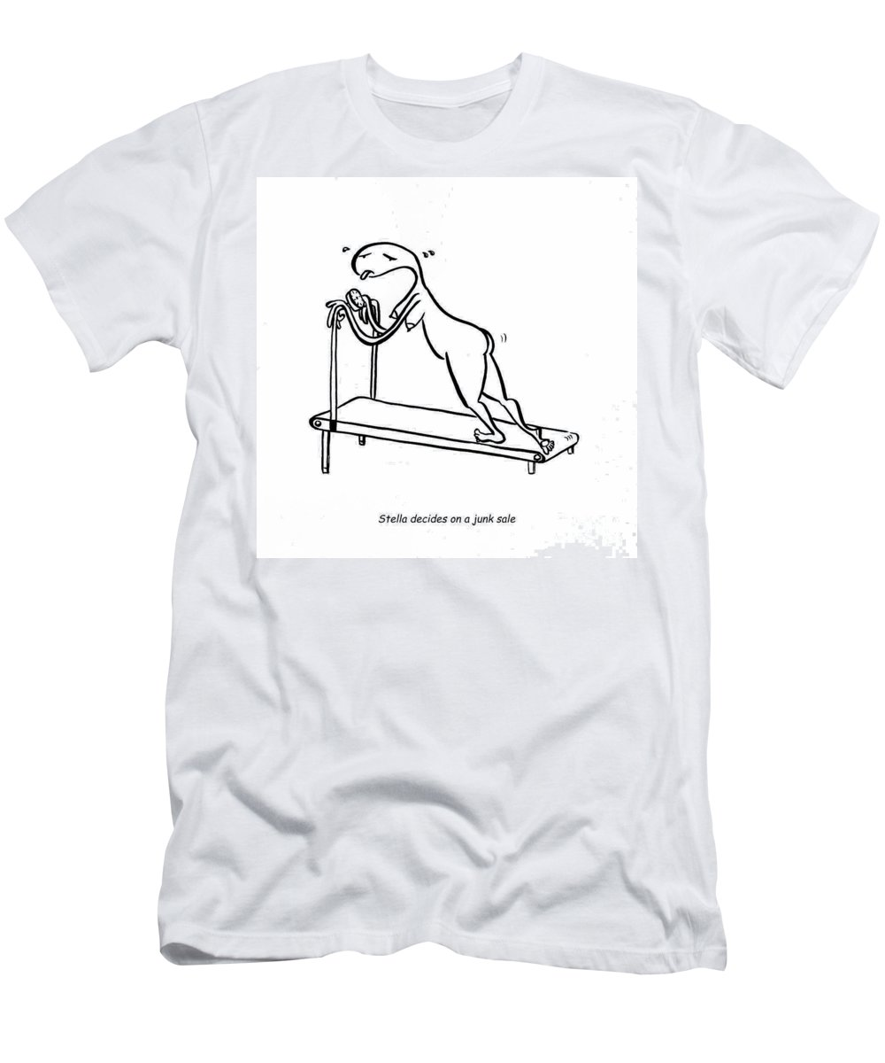Stella Men's T-Shirt (Athletic Fit) featuring the digital art Treadmill by Leanne Wilkes