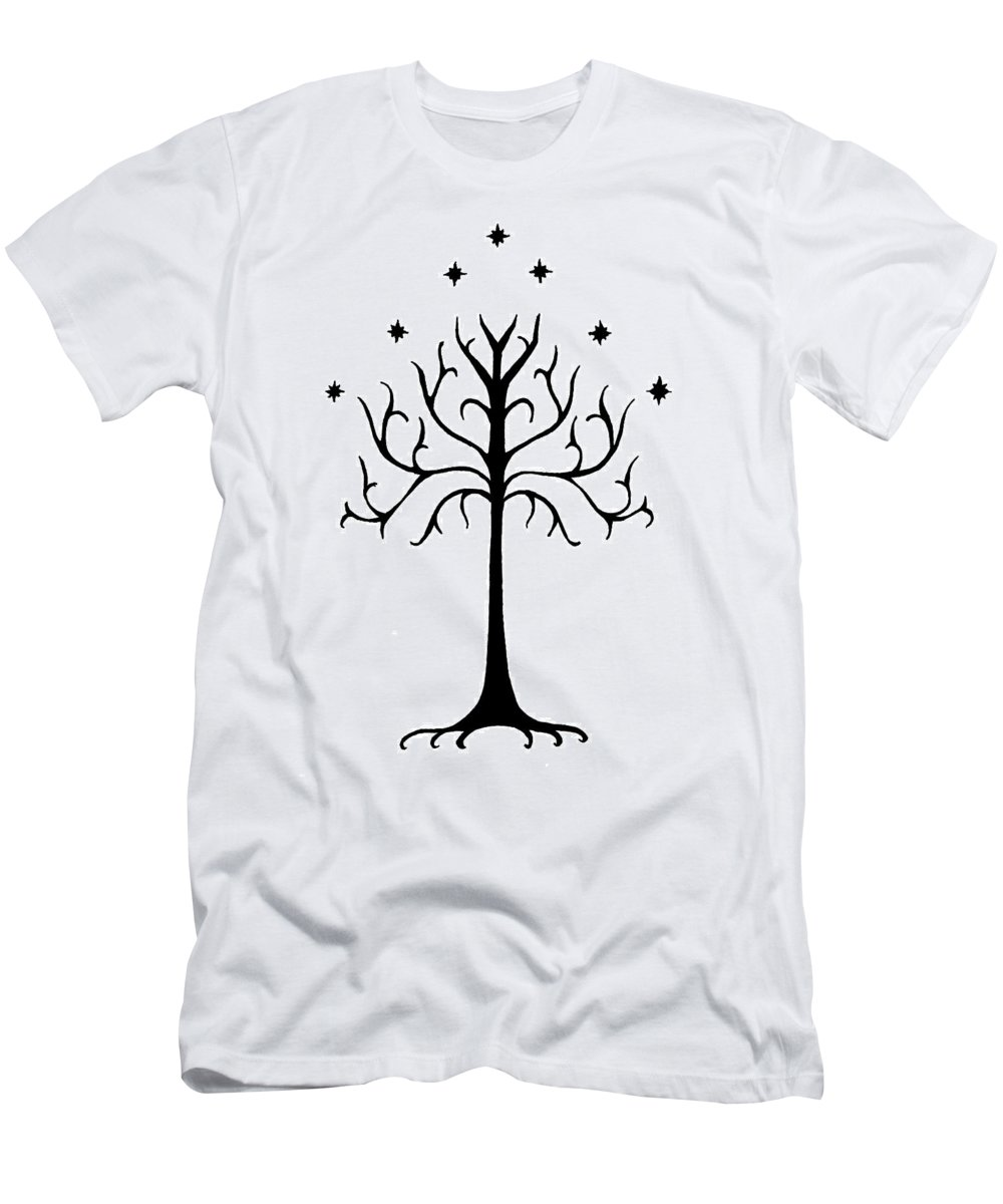 Ink Men's T-Shirt (Athletic Fit) featuring the drawing Tree Of Gondor Crest by Kayleigh Semeniuk
