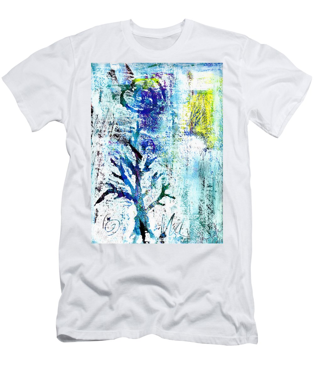 Tree Men's T-Shirt (Athletic Fit) featuring the painting Tree Of Life by Wayne Potrafka