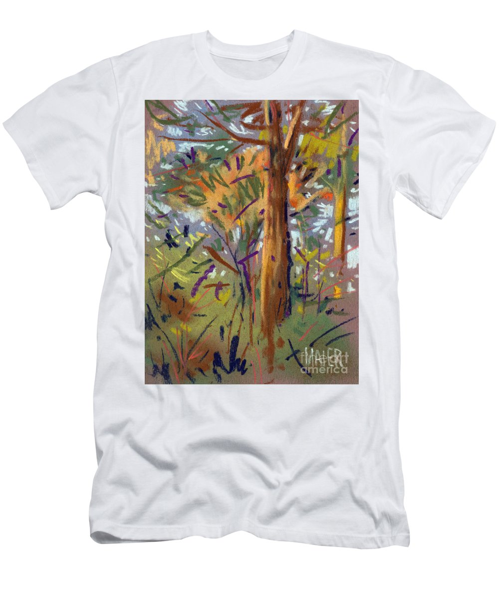 Trees Men's T-Shirt (Athletic Fit) featuring the drawing Tree Sketch by Donald Maier