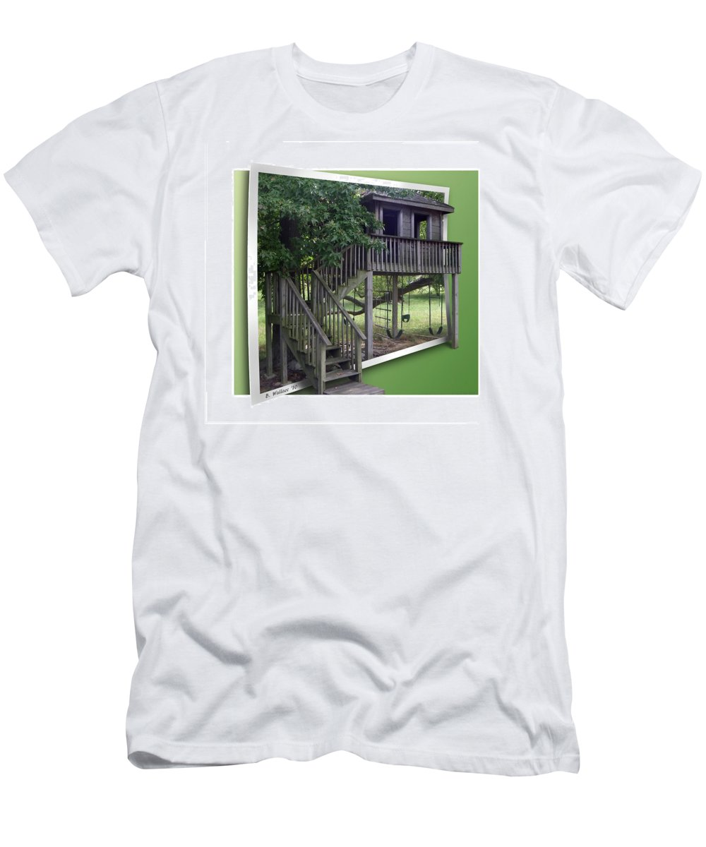 2d Men's T-Shirt (Athletic Fit) featuring the photograph Treehouse Playground by Brian Wallace